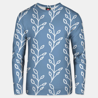 Thumbnail image of Feeling of lightness Pattern - Steel Blue Unisex sweater, Live Heroes