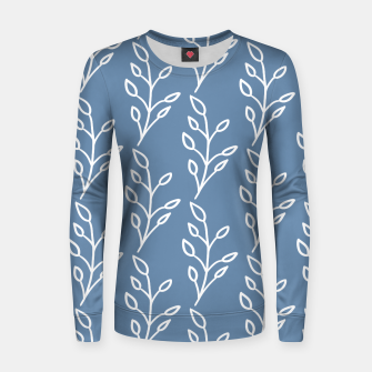 Feeling of lightness Pattern - Steel Blue Women sweater thumbnail image