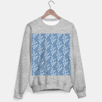 Feeling of lightness Pattern - Steel Blue Sweater regular thumbnail image