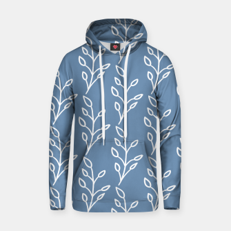 Feeling of lightness Pattern - Steel Blue Hoodie thumbnail image