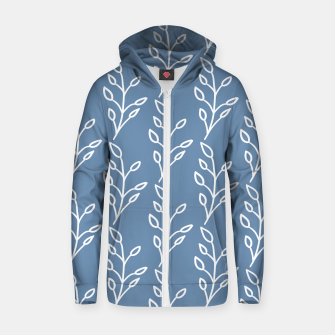 Feeling of lightness Pattern - Steel Blue Zip up hoodie thumbnail image