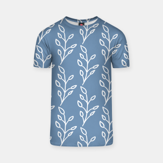 Feeling of lightness Pattern - Steel Blue T-shirt thumbnail image