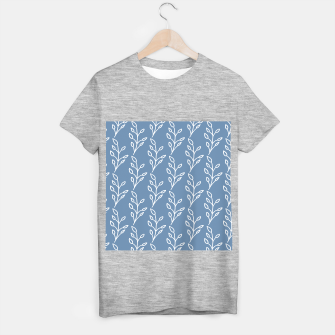 Feeling of lightness Pattern - Steel Blue T-shirt regular thumbnail image