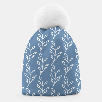 Feeling of lightness Pattern - Steel Blue Beanie thumbnail image