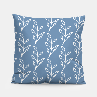 Feeling of lightness Pattern - Steel Blue Pillow thumbnail image