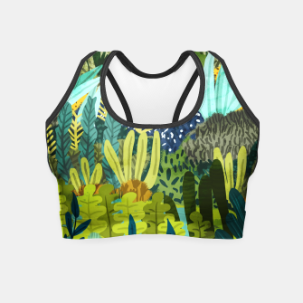 Thumbnail image of Wild Jungle II Crop Top, Live Heroes