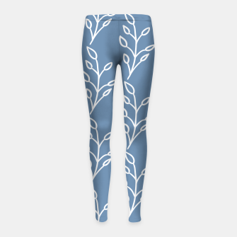 Feeling of lightness Pattern - Steel Blue Girl's leggings thumbnail image