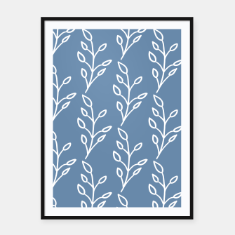 Feeling of lightness Pattern - Steel Blue Framed poster thumbnail image