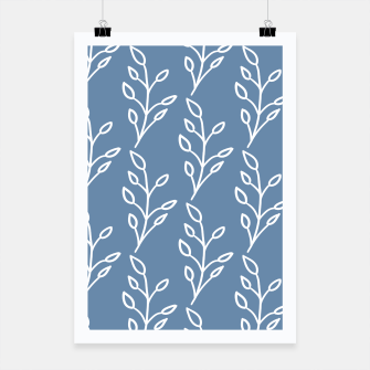 Feeling of lightness Pattern - Steel Blue Poster thumbnail image