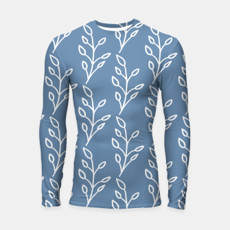 Feeling of lightness Pattern - Steel Blue Longsleeve rashguard  thumbnail image