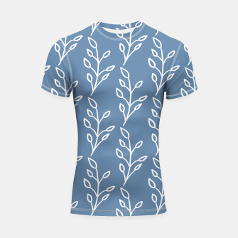 Feeling of lightness Pattern - Steel Blue Shortsleeve rashguard thumbnail image