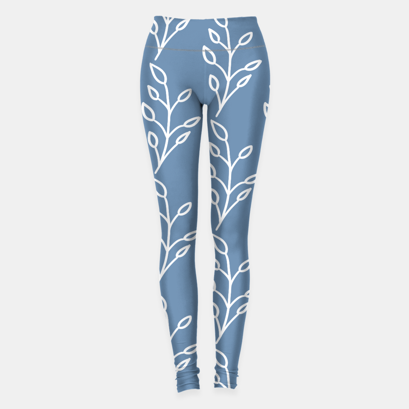 Image of Feeling of lightness Pattern - Steel Blue Leggings - Live Heroes