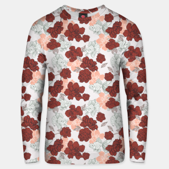 Fish and red flowers Sudadera unisex Bild der Miniatur