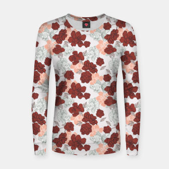 Fish and red flowers Sudadera para mujeres Bild der Miniatur