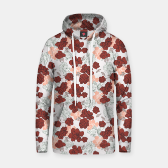 Fish and red flowers Sudadera con capucha Bild der Miniatur