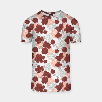 Fish and red flowers Camiseta Bild der Miniatur