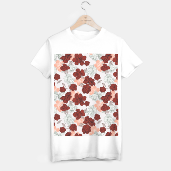 Fish and red flowers Camiseta Regular Bild der Miniatur