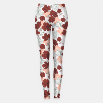 Fish and red flowers Leggings Bild der Miniatur