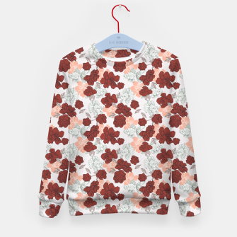 Fish and red flowers Sudadera para niños Bild der Miniatur