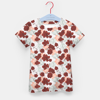Fish and red flowers Camiseta para niños Bild der Miniatur