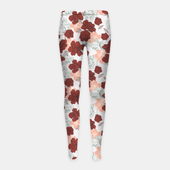 Fish and red flowers Leggings para niña Bild der Miniatur