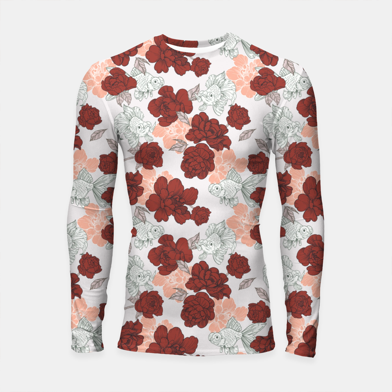 Foto Fish and red flowers Longsleeve rashguard - Live Heroes