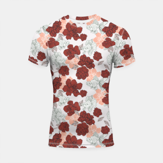 Thumbnail image of Fish and red flowers Shortsleeve rashguard, Live Heroes