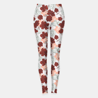 Thumbnail image of Fish and red flowers Leggings, Live Heroes