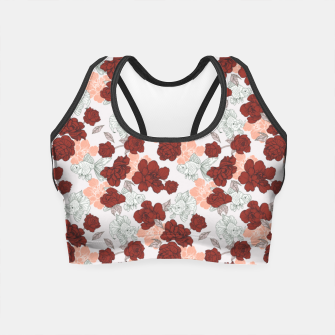 Thumbnail image of Fish and red flowers Crop Top, Live Heroes
