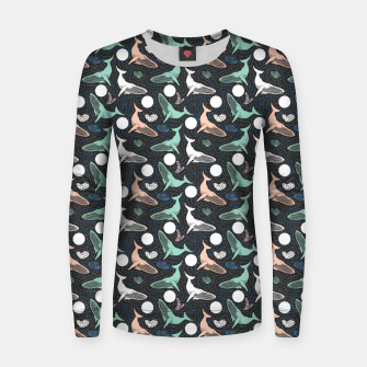 Thumbnail image of Whales in the dark Sudadera para mujeres, Live Heroes