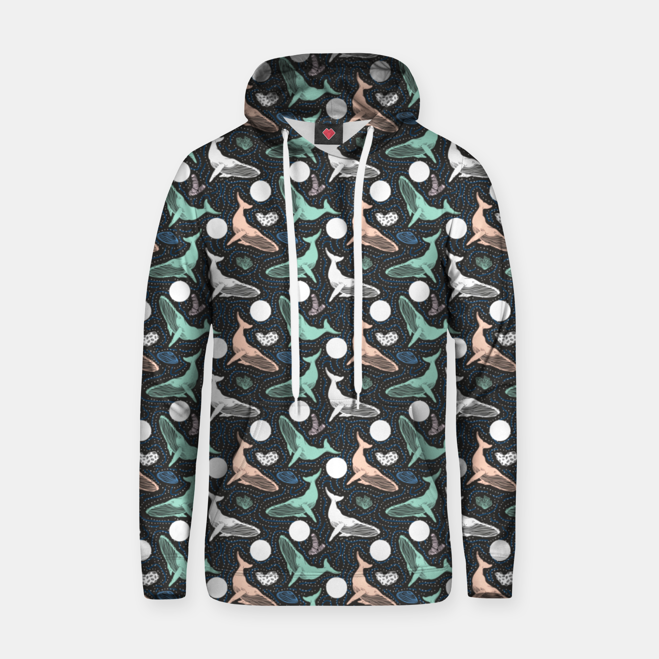Foto Whales in the dark Sudadera con capucha - Live Heroes