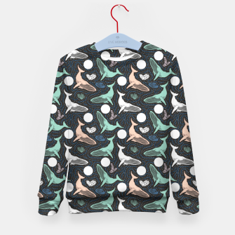 Thumbnail image of Whales in the dark Sudadera para niños, Live Heroes