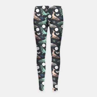 Thumbnail image of Whales in the dark Leggings para niña, Live Heroes