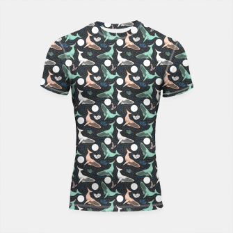 Thumbnail image of Whales in the dark Shortsleeve rashguard, Live Heroes