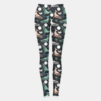 Thumbnail image of Whales in the dark Leggings, Live Heroes