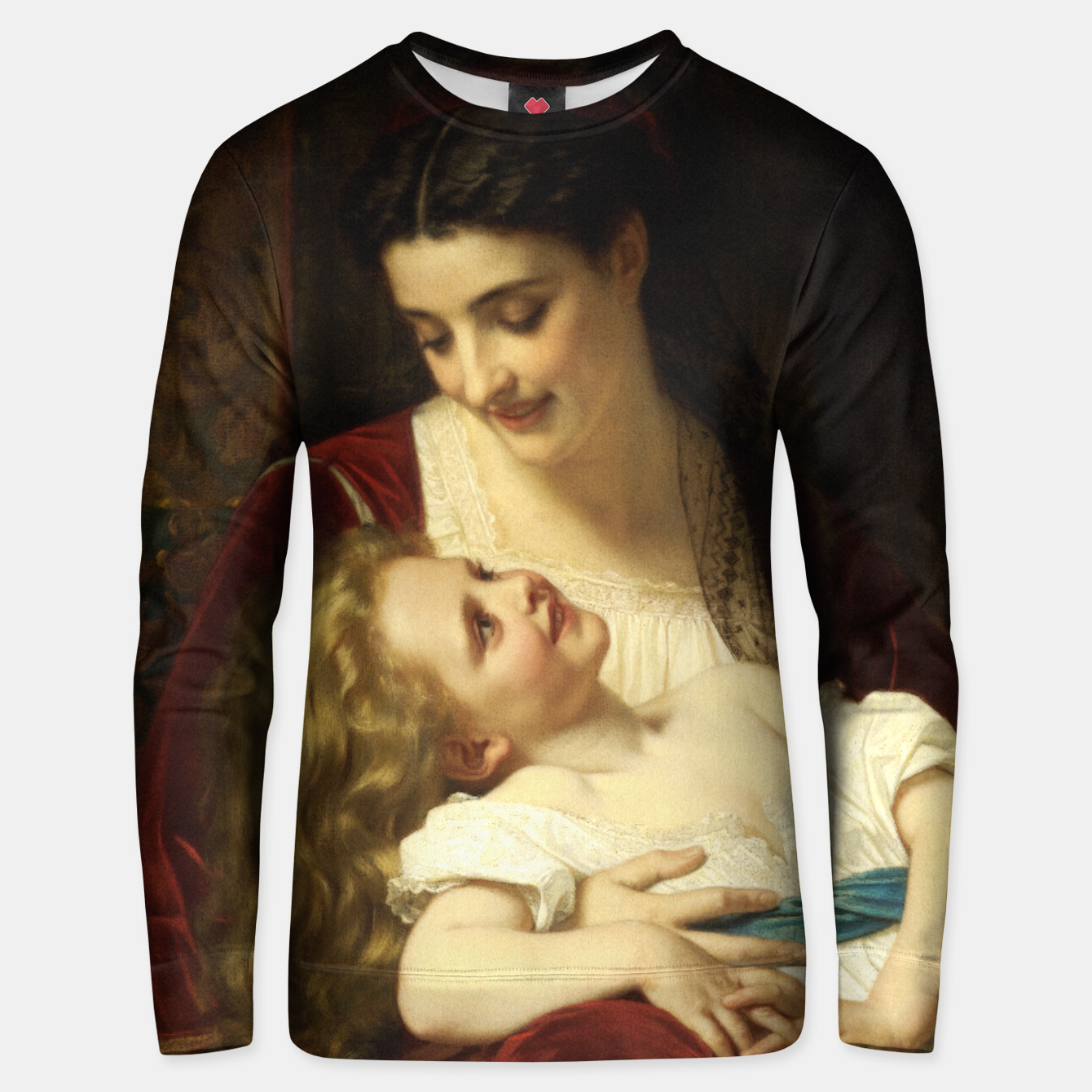Image of Maternal Affection by Hugues Merle Fine Art Reproduction Unisex sweater - Live Heroes