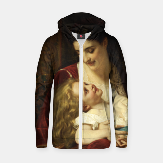 Thumbnail image of Maternal Affection by Hugues Merle Fine Art Reproduction Zip up hoodie, Live Heroes