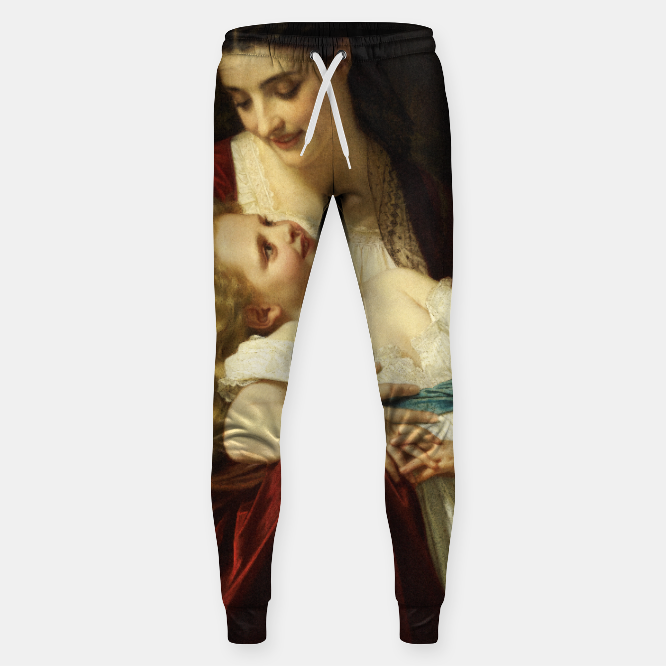 Image of Maternal Affection by Hugues Merle Fine Art Reproduction Sweatpants - Live Heroes
