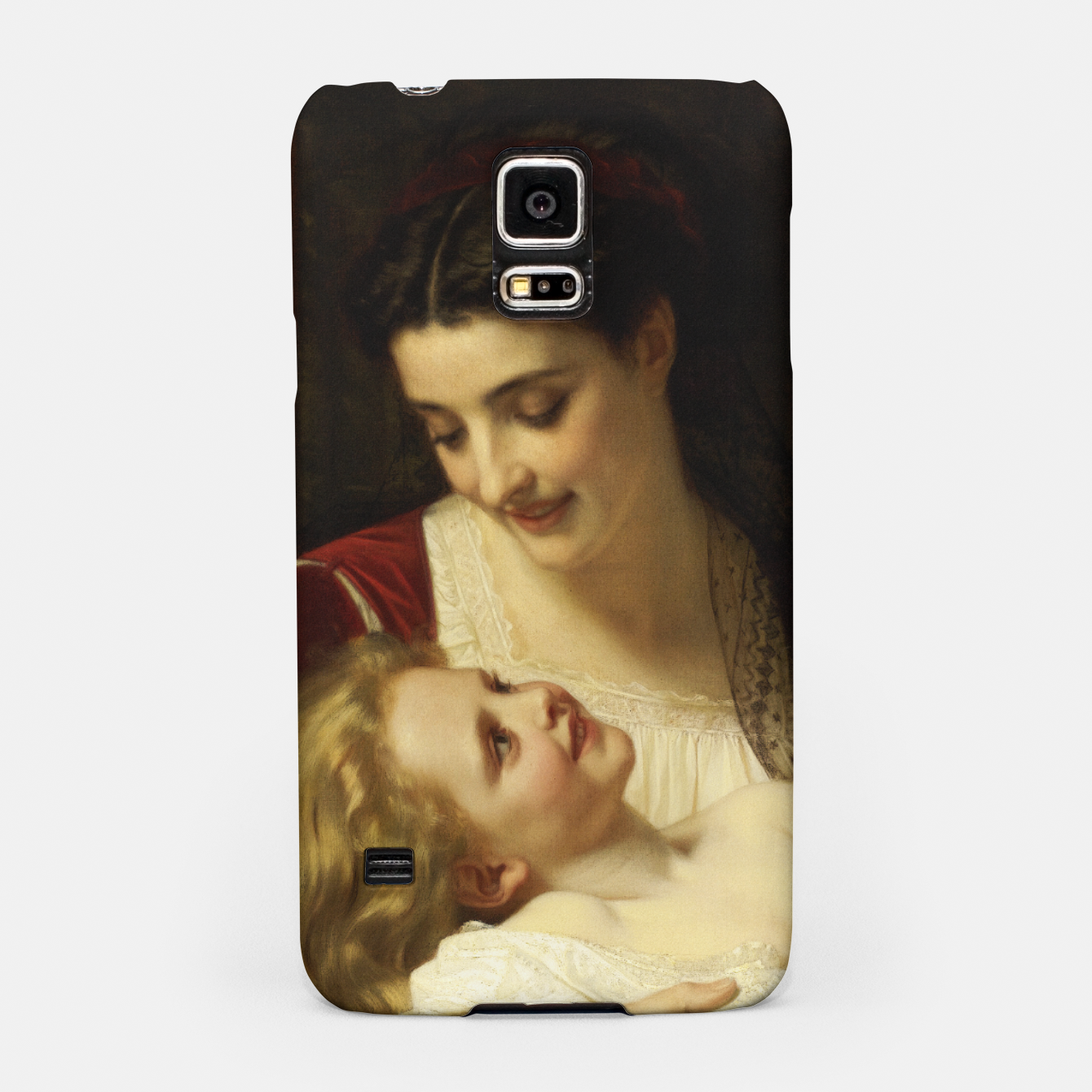 Image of Maternal Affection by Hugues Merle Fine Art Reproduction Samsung Case - Live Heroes