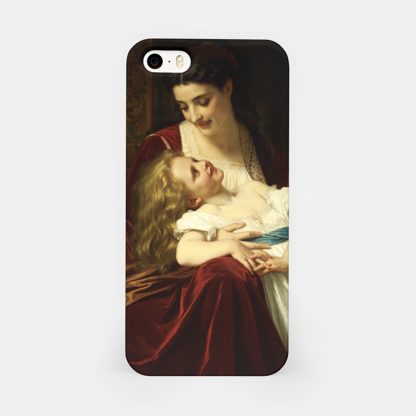 Image of Maternal Affection by Hugues Merle Fine Art Reproduction iPhone Case - Live Heroes