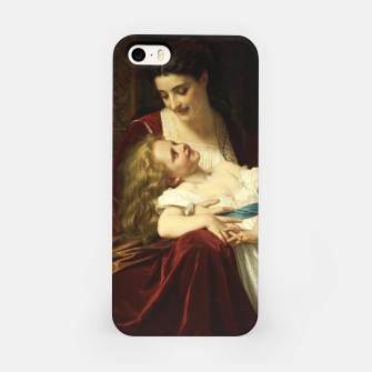 Thumbnail image of Maternal Affection by Hugues Merle Fine Art Reproduction iPhone Case, Live Heroes