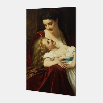 Thumbnail image of Maternal Affection by Hugues Merle Fine Art Reproduction Canvas, Live Heroes