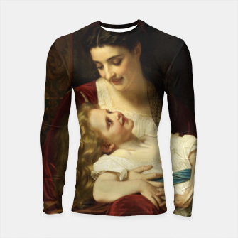 Thumbnail image of Maternal Affection by Hugues Merle Fine Art Reproduction Longsleeve rashguard , Live Heroes