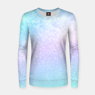 Thumbnail image of Cosmic pastel rainbow sky Women sweater, Live Heroes