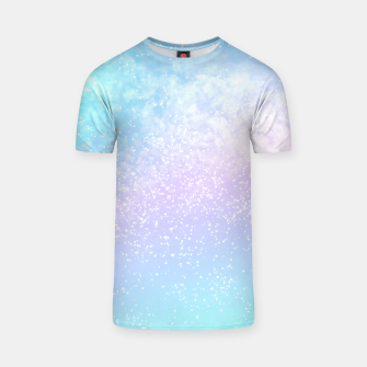 Thumbnail image of Cosmic pastel rainbow sky T-shirt, Live Heroes