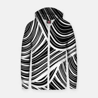 Thumbnail image of Curtain waves  Zip up hoodie, Live Heroes