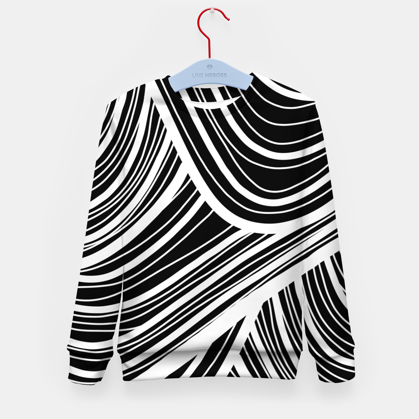 Image of Curtain waves  Kid's sweater - Live Heroes