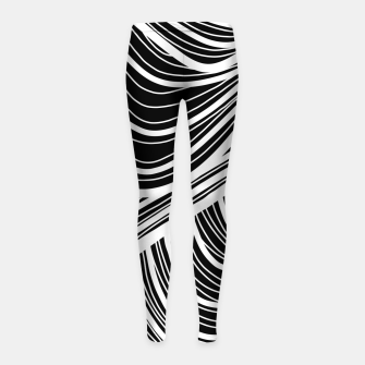 Thumbnail image of Curtain waves  Girl's leggings, Live Heroes