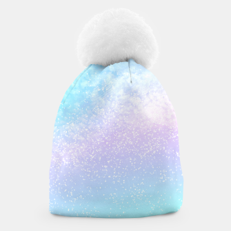 Thumbnail image of Cosmic pastel rainbow sky Beanie, Live Heroes
