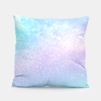 Thumbnail image of Cosmic pastel rainbow sky Pillow, Live Heroes